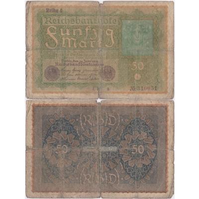 Německo - bankovka Reichsbanknote 50 marek 1919