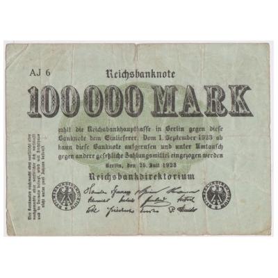 100 000 marek 1923