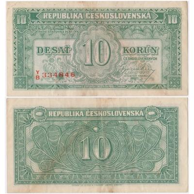 Československo - bankovka 10 korun 1950