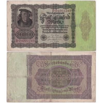 50 000 marek 1922