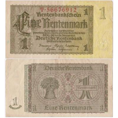 Germany - banknote 1 Rentenmark 1937