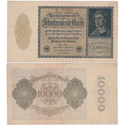 Německo - bankovka Reichsbanknote 10 000 Marek 1922