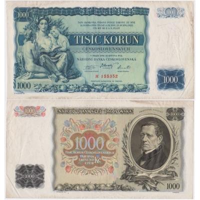 1000 korun 1934, série H