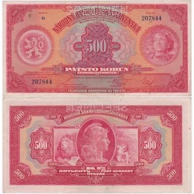 500 korun 1929, série G