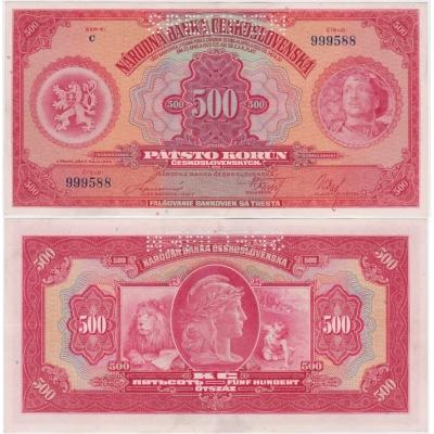 500 korun 1929, série C