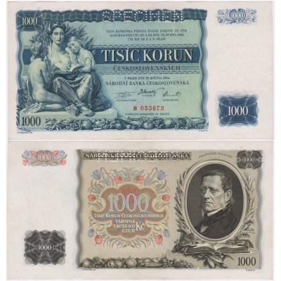 1000 korun 1934, série B