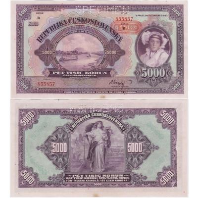 5000 korun 1920, série B