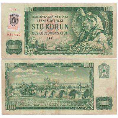 100 korun 1961, kolek Slovenská republika