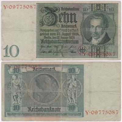 Deutschland - Banknote 10 Mark 1929