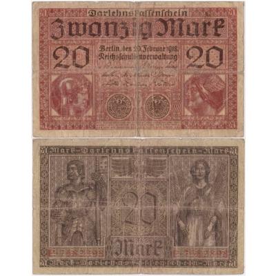 Německo - bankovka 20 marek 1918