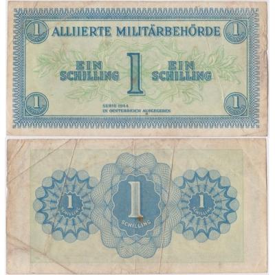 Rakousko - bankovka 1 schilling 1944, II. světová válka