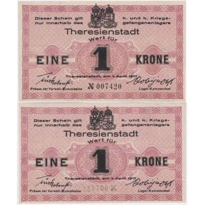 1 koruna 1917, Vojenský zajatecký tábor Terezín