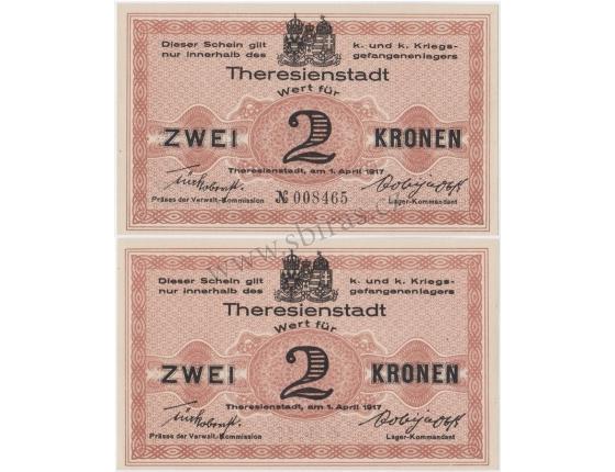 2 koruny 1917, Vojenský zajatecký tábor Terezín
