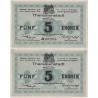 5 korun 1917, Vojenský zajatecký tábor Terezín