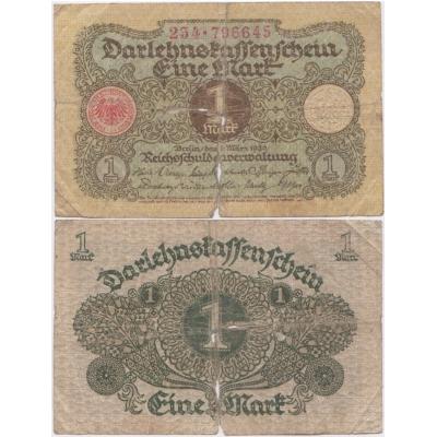 Německo - bankovka Darlehnskassenschein 1 Mark 1920