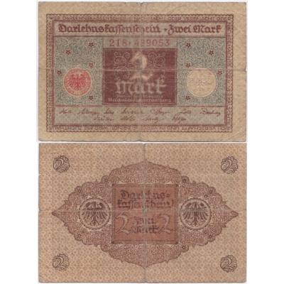 Německo - bankovka Darlehnskassenschein 2 Mark 1920