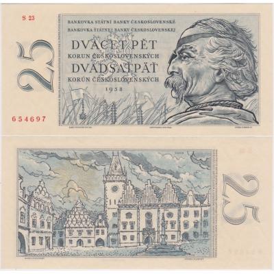 25 korun 1958 UNC