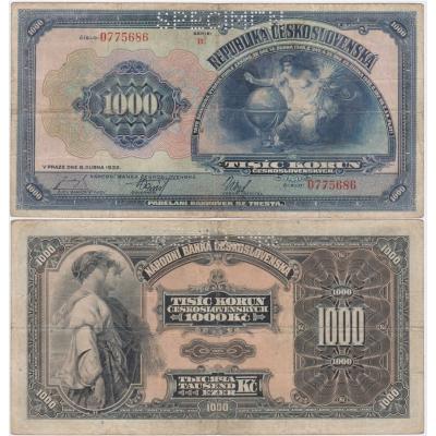 1000 korun 1932, série B