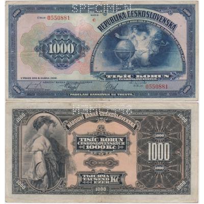 1000 korun 1932, série C