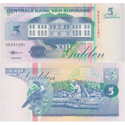 Surinam - bankovka 5 gulden 1998 UNC