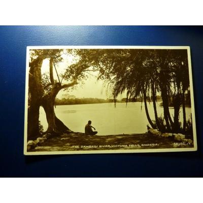 Africa - postcard Rhodesia - The Zambezi River, Victoria Falls