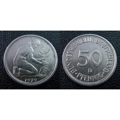 Západní Německo - 50 Pfennig 1979 D