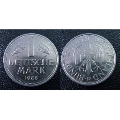 Západní Německo - 1 Mark 1988 D