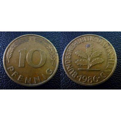 10 Pfennig 1986 G