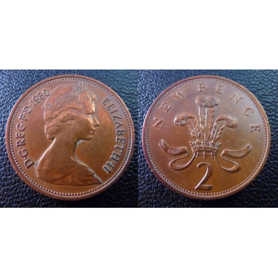 2 New Pence 1980