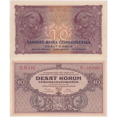 10 korun 1927 UNC