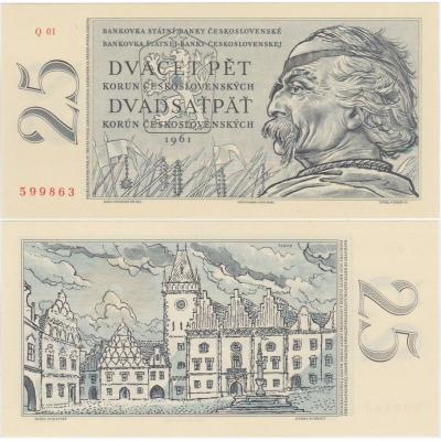 25 korun 1961 UNC
