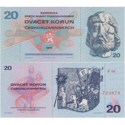 20 korun 1970 UNC