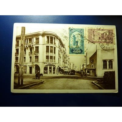 Afrika - Postkarte Casablanca, Rue de l'Horloge