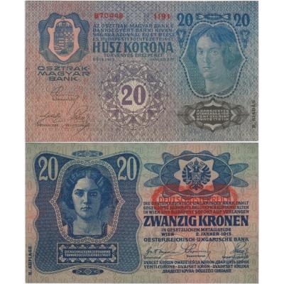 20 korun 1913, II. vydání, UNC