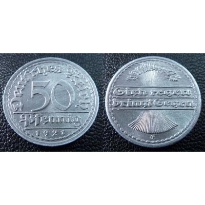 50 Pfennig 1921 E