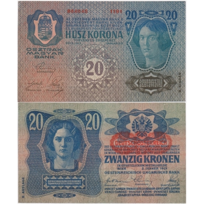 20 korun 1913, II. vydání, aUNC