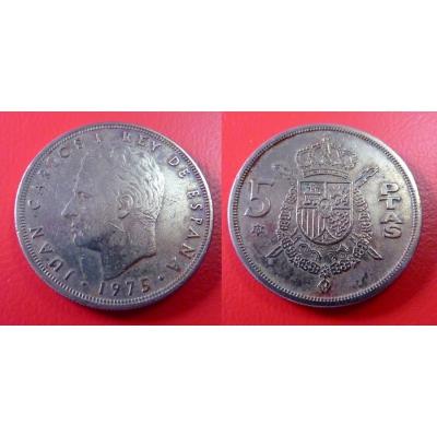 Španělsko - 5 pesetas 1975