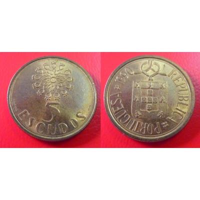 Portugalsko - 5 Escudos 1990