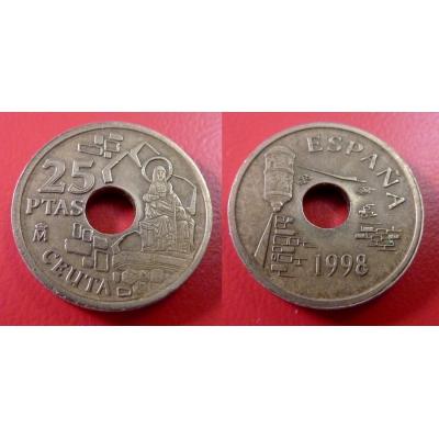 Španělsko - 25 pesetas 1998