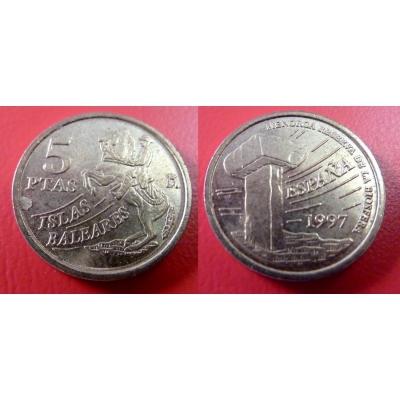 Španělsko - 5 Pesetas 1997