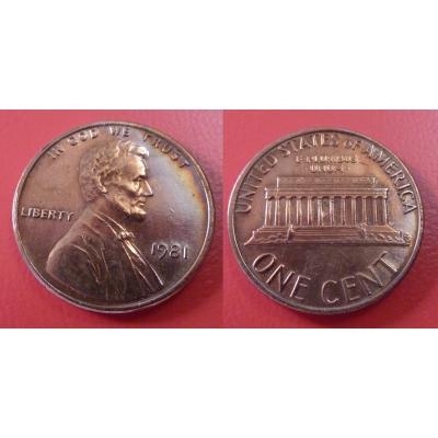 Spojené státy americké - 1 cent 1981
