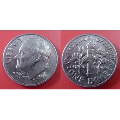 Spojené státy americké - 1 dime 1987 D