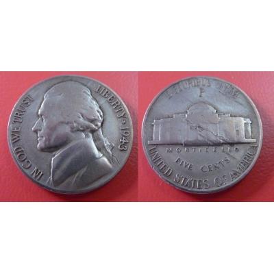Spojené státy americké - 5 cents 1943