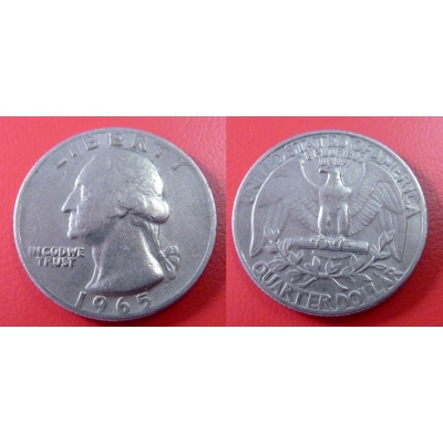 1/4 dolar 1965