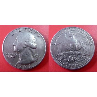 Spojené státy americké - 1/4 dolar 1981