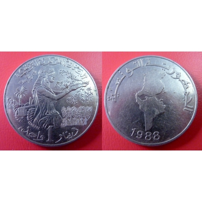 Tunisko - 1 dinar 1988