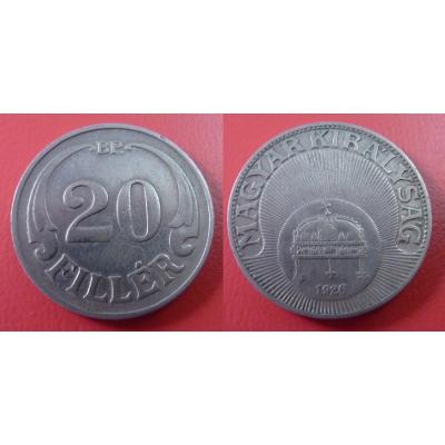 Maďarsko - 20 Fillér 1926 BP