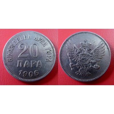 Černá Hora - 20 para 1906