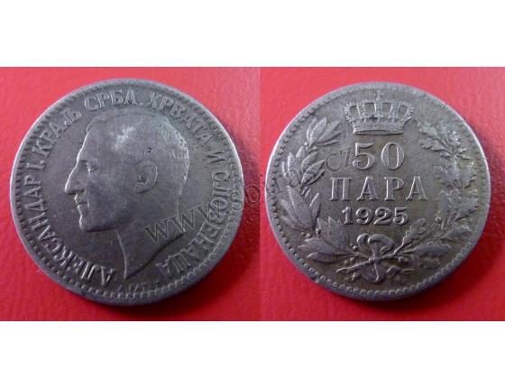 Jugoslávie - 50 para 1925