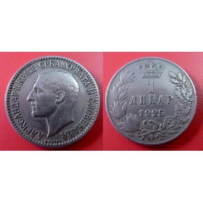 Jugoslávie - 1 dinar 1925